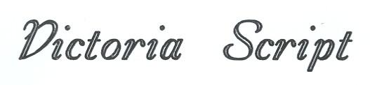 Victoria Script Engraving Font