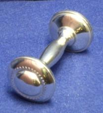 7009B Beaded Dumb Bell Rattle
