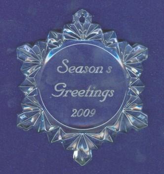 902 Snowflake Christmas Ornament
