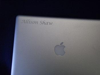 Laptop Engraved