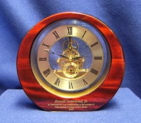 MI3248 Gear Clock Rosewood Finish