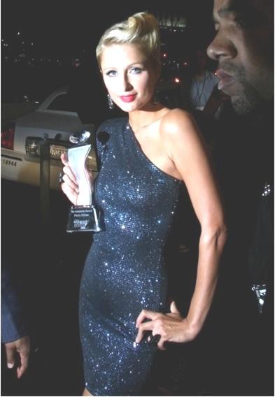 Paris Hilton Receiving A Crystal Award