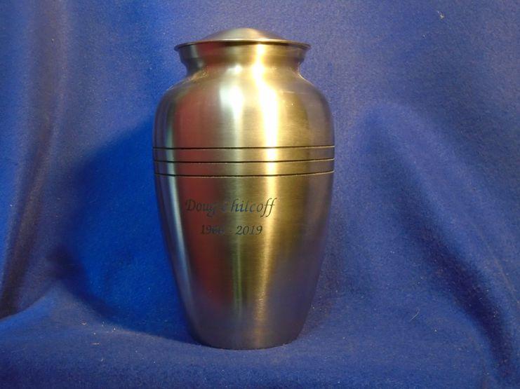 Silver Urn Engraved